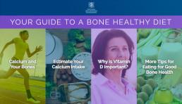 Laptop computer displaying the NOF Bone Healthy Diet Guide microsite.